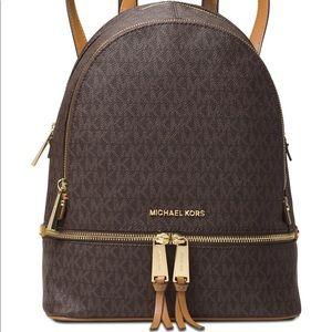 Michael Kors Signature Rhea ZIP Medium Backpack